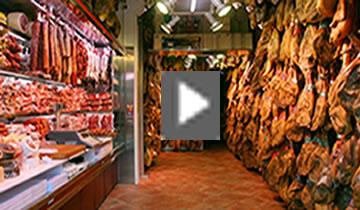Magasin a Barcelona de jambon espagnol pata negra