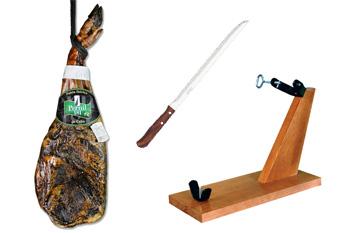 [Promoció Abril 2012] Espatlla ibèrica d'enceball extensiu, pernilera i ganivet Arcos
