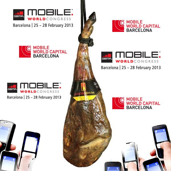 Ja és aquí el Mobile World Congress de Barcelona! Visita la nostra botiga de pernil!