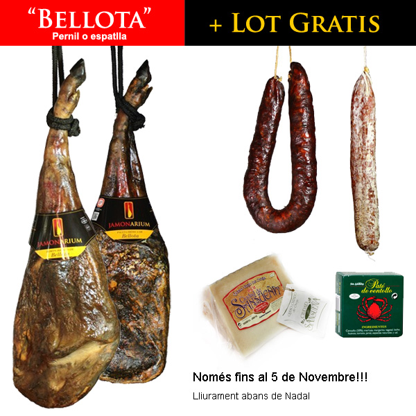 """compra del teu """"BELLOTA"""" per Nadal i emporta't un LOT gourmet GRATIS"""