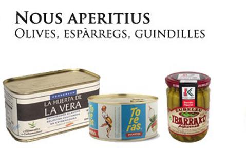 aperitiu nadal olives esparrecs guindilles