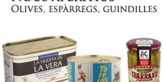 Aperitius de Nadal, olives, espàrrecs i guindilles