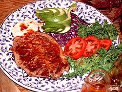 Filet amb salsa vermella recepta