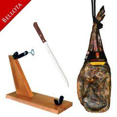 Oferta d'estiu: Espatlla ibèrica Bellota 5,750 Kg + pernilera + ganivet = 112 €