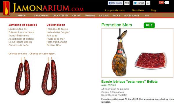 boutique en ligne de jambon espagnol Jamonarium.com