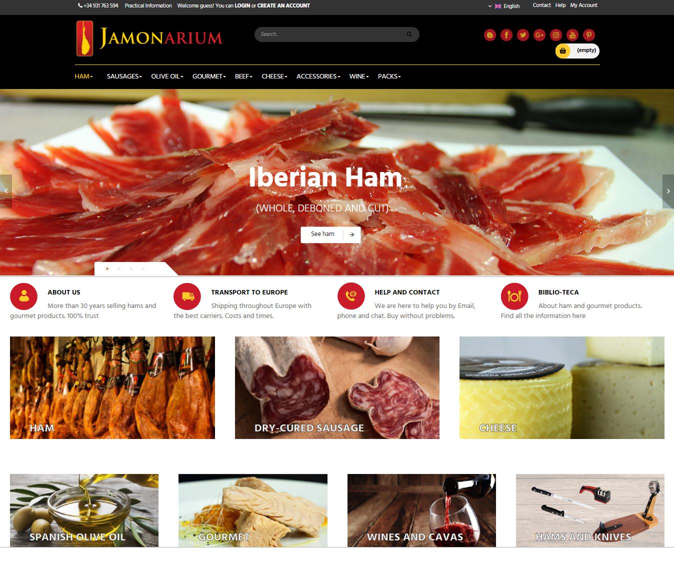 Millorem la nostra botiga online de venda de pernils i embotits ibèrics